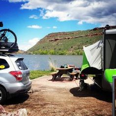 SylvanSport GO pop up campers are made for adventure. Tow all your bikes, boats, and outdoor gear, then convert your GO into a sweet base camp!