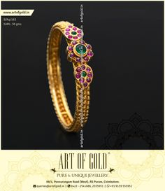 Antique Kada Bangle on hand mesh work forming the kada portion. Customise the kada bangle with screw or different motifs. Browse site for more kada designs.