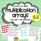 This set includes 24 multiplication array & fact family task cards + 1 guided practice worksheet + 1 mini assessment.    This activity is great f...$