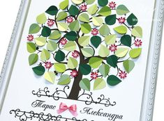 Wedding Guest Book Ideas  Personalized pink by WeddingUkraine