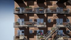 Social Balconies connect existing balconies to encourage social interaction Co Housing, Social Housing, Urban Intervention, Facade Architecture, Dezeen, Future City, Apartment Design, Home Projects, Balconies