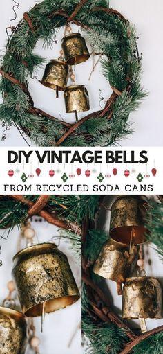 Vintage White Christmas, Vintage Christmas Ornaments, Christmas Bells, Christmas Holidays, Christmas Wreaths, Christmas Crafts, Christmas Stuff, Christmas Ideas, Merry Christmas