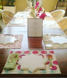 Love how our table linens are mixed and matched @28kothi. Find all our table linens online. #ecru #ecruonline #blockprint #tablelinens #tablewear #tablesetting