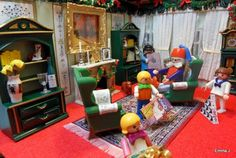 1000 images about playmobil xmas on pinterest playmobil for Playmobil living room 4282