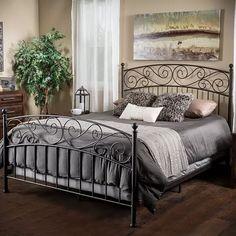 King Size Iron Bed in Dark Bronze