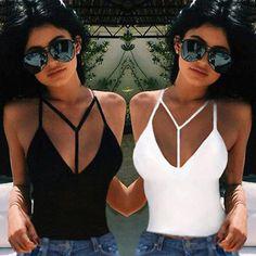 Women Sexy Cut-Out Bra Crop Bustier Bralette Corset Tops Tank Top Blouse T-Shirt Bralette Crop Top, Camisole, Bustiers, Crop Tops, Tank Tops, Women's Tops, Sexy Bh, Summer Vest, Dress Summer