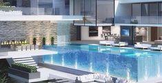 luxus haus mit garage unter pool - fresHouse