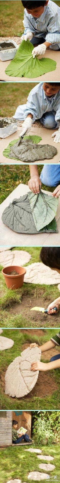 Fabricando Paso para el jardín