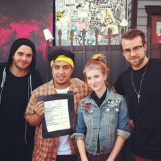 Taylor York, Hayley Williams, Jeremy Davis, Paramore