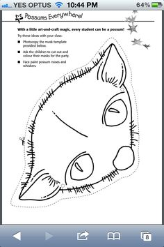 Possum Magic mask template found at…