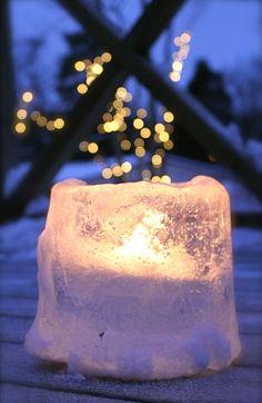 sand bucket ice lanterns