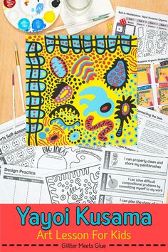 Need a unique Yayoi Kusama art lesson for your upper elementary and middle school students? Roll and draw games motivate kids to learn about art history! Art Games For Kids, Art Lessons For Kids, Projects For Kids, Art Projects, History Projects, Project Ideas, Art Sub Plans, Art Lesson Plans, Art History Lessons