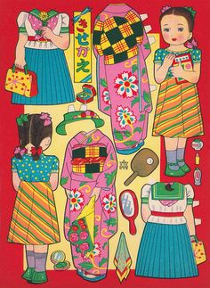 Vintage Cut Out & Play by The Moog Image Dump, via Flickr  for 1500 free paper dolls, go to my website Arielle Gabriel's The International Paper Doll Society...