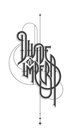 Lettering / Type / Logos by ROAN , via Behance