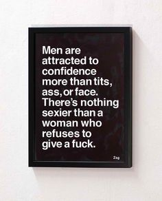 Take this to heart, not only to attract men but just to feel good.