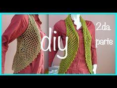 Chaleco Torera Motivo Circular Abanico Crochet Ganchillo parte 2