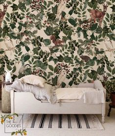 Woodland wallpaper Woodland animals wall mural Removable | Etsy Nursery Wallpaper, Paper Wallpaper, Flower Wallpaper, Chinoiserie Wallpaper, Forest Wallpaper, Kindergarten Wallpaper, Removable Wall Murals, Be Light, Smooth Walls