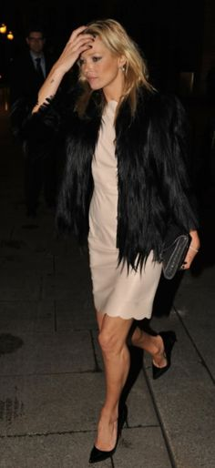 Kate Moss- scalloped nude & black. Glamour In Streetstyle