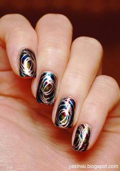 Pueen na chinkowym trio - Yasinisi Chrome Nail Powder, Chrome Nails, Powder Nails, Hair And Nails, My Nails, Stamping Nail Art, Glam Nails, Nail Envy, Nail Games