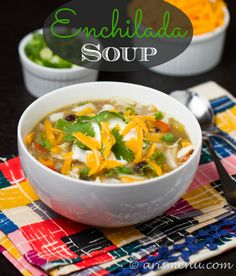 Warm, bold, and flavorful enchilada soup made easily 100% in your crockpot. All the flavors you love about decadent chicken enchiladas in a simple, easy and healthy crockpot soup. Is it just me, or does a long weekend make anyone else feelmoretired? I feel like I spend the entire time trying to get more done, …