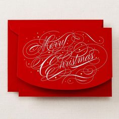 Hand Engraved Merry Christmas Holiday Card
