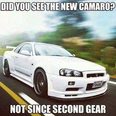 Some Nissan GT-R R34 GT-R humor lmao