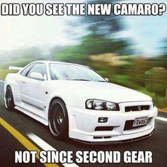 Some Nissan GT-R R34 GT-R humor lmao