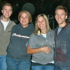 Tom Bridegroom (right) with Shane Bitney Crone (left) and Shane's sisters.