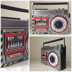 Mac Blackout Doombox BB014 Handpainted Vintage 80s by MacBlackout, $100.00