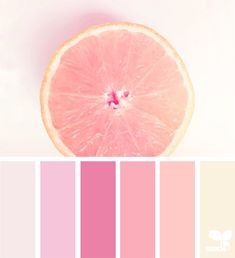{ fresh hues } | image via: @colormiminzi Gorgeous pink grapefruit color palette #color #colour #colorpalettes #colorscheme Лучшие цвета для детской - советы дизайнеров