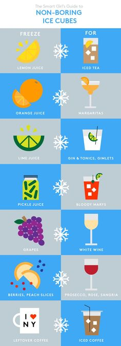 How To Make Ice Cubes | How to make ice cubes that won't water down your drink. #refinery29