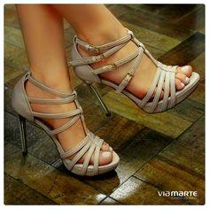 heels - sandália nude - salto alto - Ref. 14-16305 - Verão 2015
