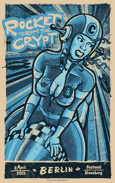 Rocket From the Crypt Berlin Poster by Lars P Krause On Sale
