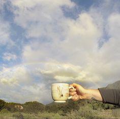 Rainbows in New Zealand!  Follow this traveling mug on Instagram @lauriecaffery.clay #mugonholiday
