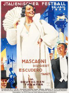 Italienischer Festball im Deutschen Theater by Hohlwein, Ludwig (1939) | Shop original vintage posters online: www.internationalposter.com