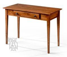 Solid Alder Wood Shaker Writing Table Antique Cherry Finish - 12 Finish Choices