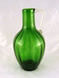 Green Beacon Glass Jug August Hofbauer Jersey Glass $24 Use coupon code ggpin13 for 20% off this item. #vintageglass