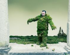 David Vintiner and Gem Fletcher: Les Hombres du Musgo. Corpus Christi procession in Bejar, Spain: in Los Hombres de Musgo, the moss men (and women!) commemorating an event which happened there in the 14th Century. Legend has it that a Christian army initiated a successful attack on the fortress of Bejar cleverly camouflaged in moss to blend in with the foliage of the town.