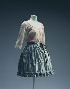 Mini Crini collection --- top and skirt --- Vivienne Westwood --- cotton jersey and rayon satin --- Spring/Summer 1986