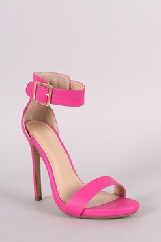 Ankle Strap Open Toe Stiletto Heel