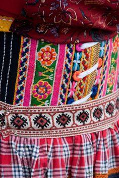 Embroidered details traditional costume, Marken (The Netherlands) #NoordHolland #Marken