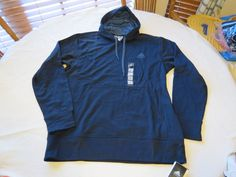 Adidas The Go To Hoodie s07232 navy vista blue jacket L large hoody coat Mens #Adidas #hoodiejacket