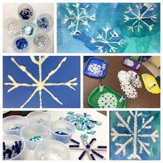 Art Play! snowflake art  for 2 year olds http://artplayusa.blogspot.com