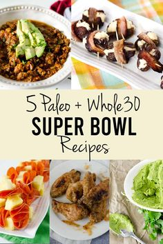 Paleo Super Bowl Recipes Game Day Game Plan Best Paleo Recipes, Whole 30 Recipes, Grain Free, Dairy Free, Healthy Party Snacks, Cooking Instructions, Healthy Lifestyle, Good Food