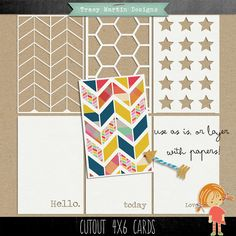 FREE Cutout 4 x 6 Cards by Tracy Martin Scrapbook Designs* Project Life Karten, Project Life Freebies, Project Life Cards, Project 365, Ideas Scrap, Mini Albums, Craft Free, Silhouette Cameo Projects, Scrapbook Designs