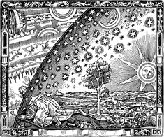 spiritualpilgrimwoodcutIn two places at once _ Spiritual Pilgrim, Woodcut, anonymous German artist, circa Jung, CW plate VII Doodle Art, Doodle Ideas, Dystopian Society, Poster Prints, Art Prints, Free Coloring Pages, Coloring Books, Find Art, Cosmos