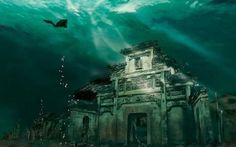 "underwater-ruins-shicheng-ancient-city-china..n its article 7 Underwater Wonders of the World, WebUrbanist wrote that ""China's submerged Lion City may be the most spectacular underwater ruins of the world, at least until more of Alexandria is explored."""