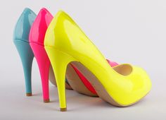 Check Out The World's Leading Small Size Shoes Brand, Founded In London, UK. Neon High Heels, Neon Yellow Shoes, Homecoming Shoes, Glitter Shoes, Shoe Art, Stiletto Pumps, Shoe Brands, Cute Shoes, Girls Shoes