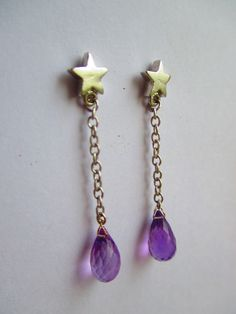 Amethyst Briolets on silver stars from crimeajewel