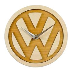 Fretwork cut from rich Maple & Cherrywood veneers Presented in fantastic VW mdf box Option of personalised box lid Requires 1 AA battery (not included) Dimensions: 230x230mm http://www.dawnswelshgifts.co.uk/ #Clocks